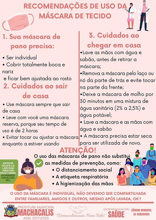SEGUE ORIENTAÇÕES DO USO ADEQUADO DE MÁSCARAS