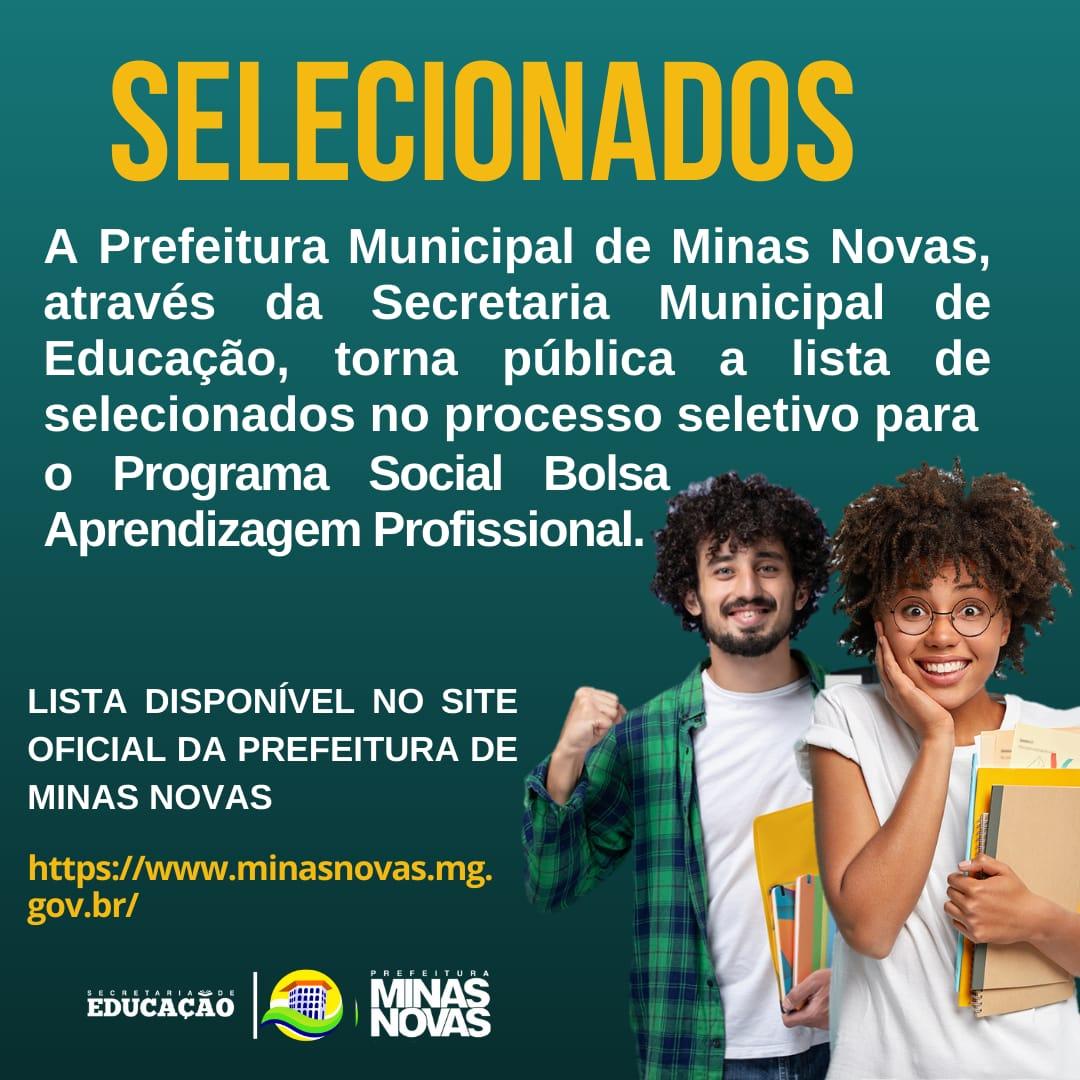 LISTA DE SELECIONADOS - PROGRAMA SOCIAL BOLSA APREND...