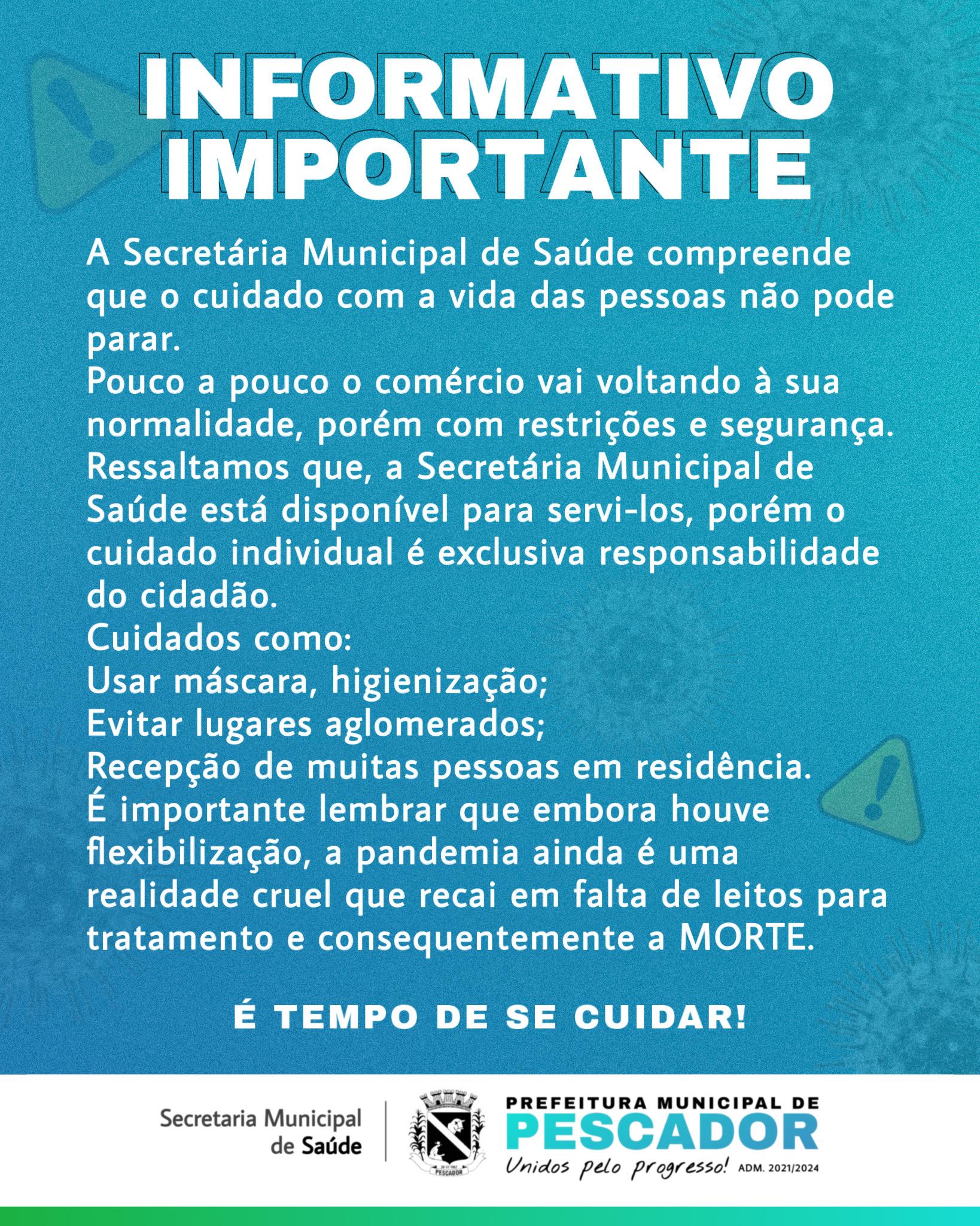 INFORMATIVO DA SAÚDE - 09/06/2021