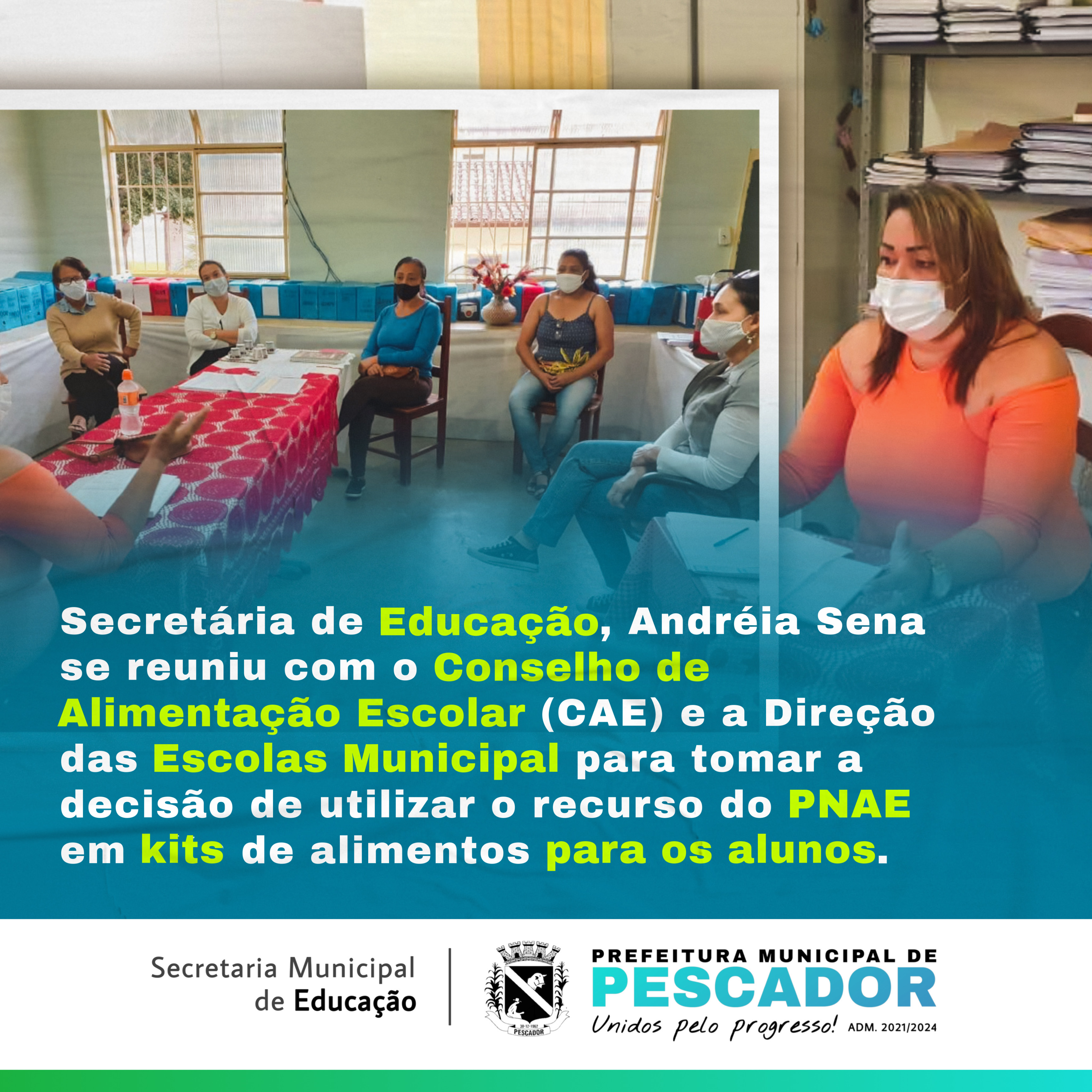 REUNIÃO SOBRE DECISÃO DE UTILIZAR O RECURSO DO PNAE