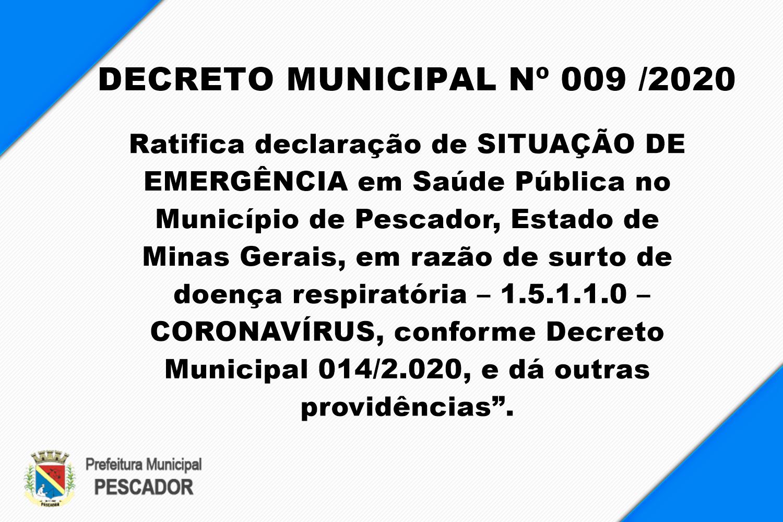 DECRETO MUNICIPAL Nº 009 /2020