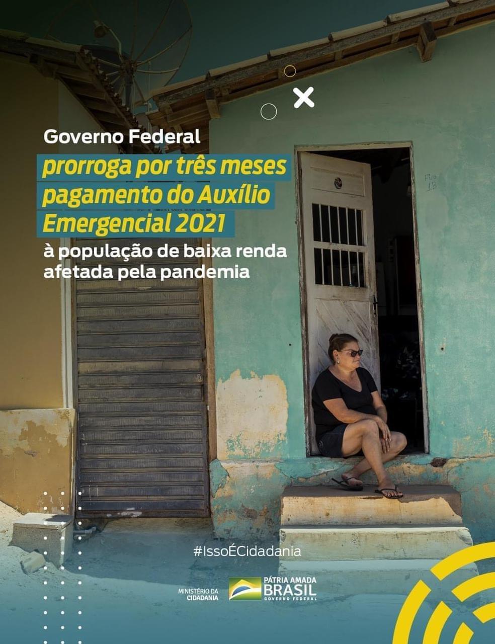 GOVERNO FEDERAL PRORROGA POR TRÊS MESES PAGAMENTO DO...