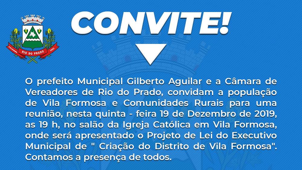 CONVITE - REUNIÃO EM VILA FORMOSA