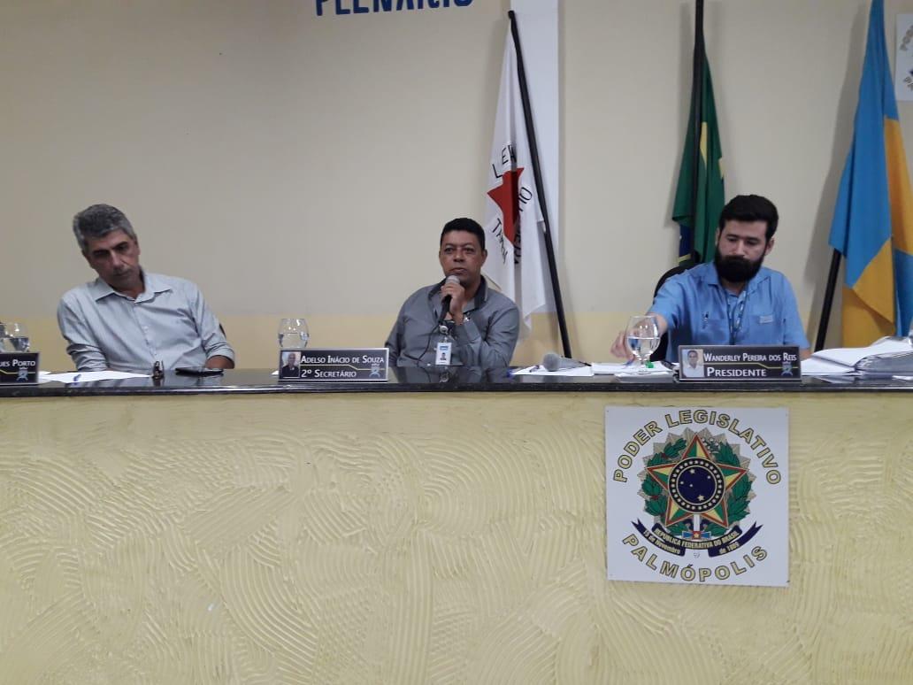 OBRA DE CAPTAÇÃO DE ÁGUA DO RIO JUCURUÇU É TEMA DE REUNIÃO NA CÂMARA DE VEREADORES DE PALMÓPOLIS.