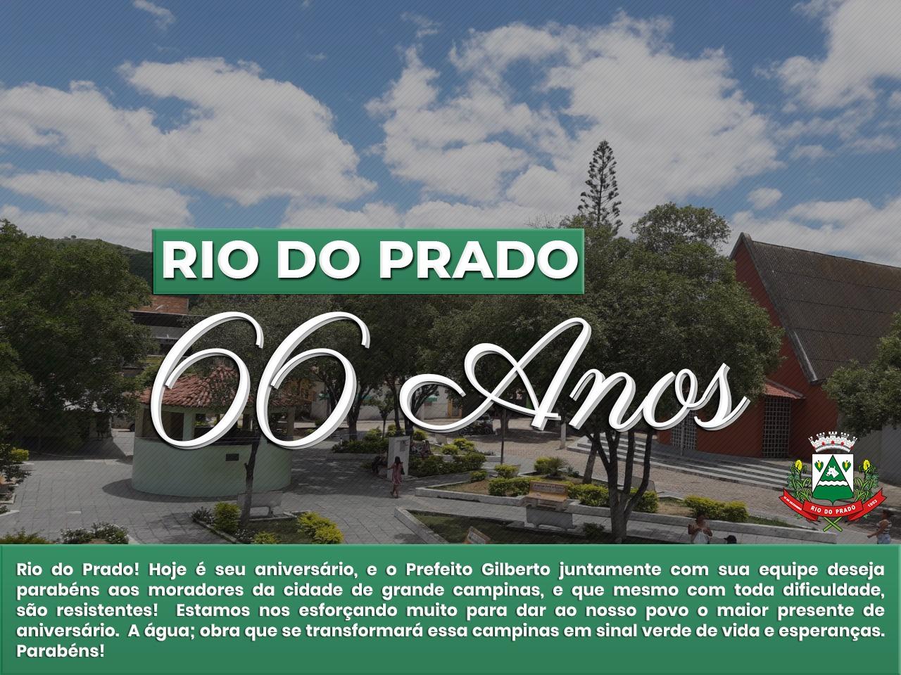 PARABÉNS RIO DO PRADO