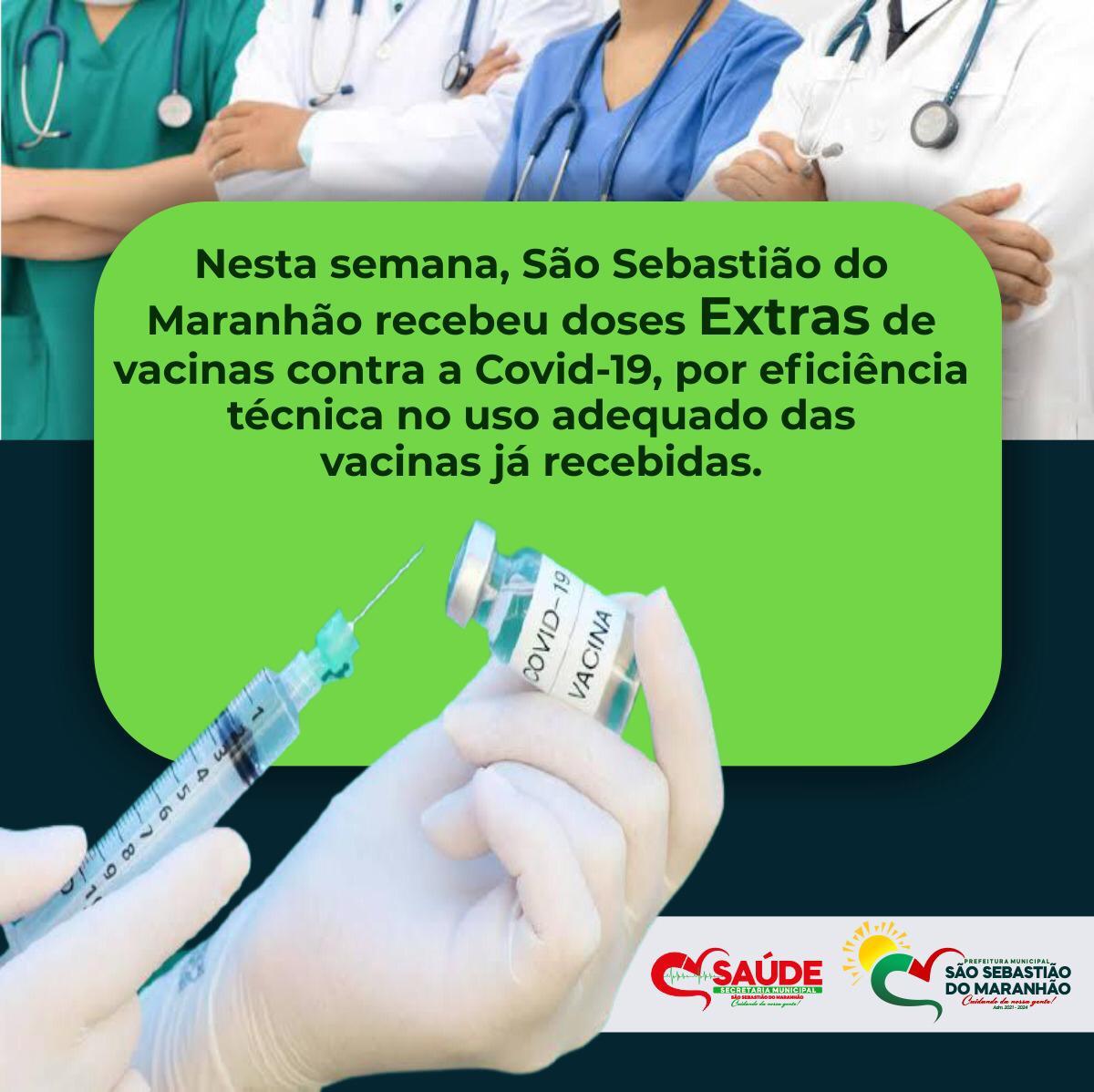 SÃO SEBASTIÃO DO MARANHÃO RECEBEU DOSES EXTRAS DE VA...