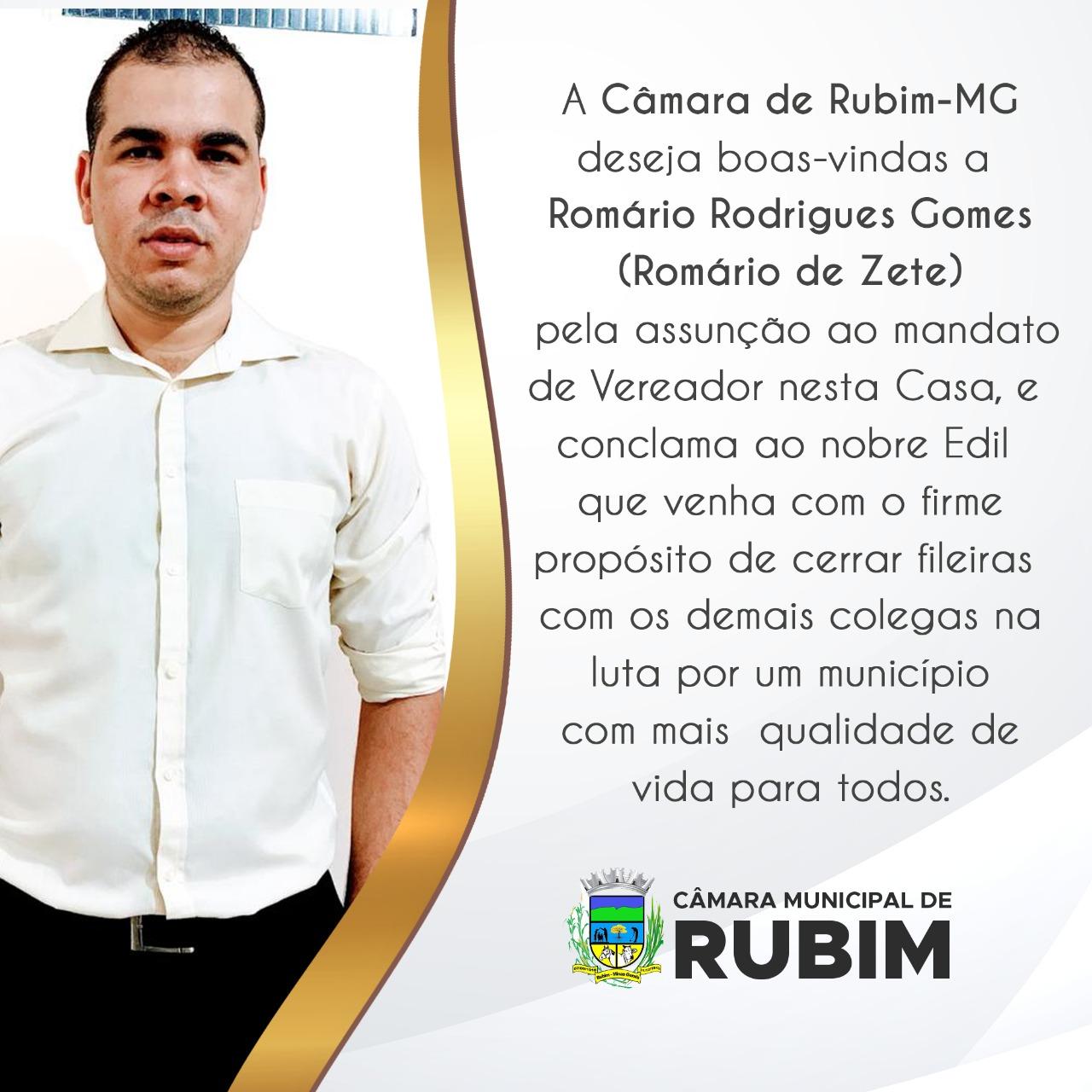 POSSE DO VEREADOR ROMÁRIO RODRIGUES GOMES (ROMÁRIO D...
